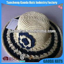 Fashion Ladies Crochet Dress Hats For Wedding