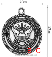 Zinc alloy creative jewelry sea forces marks airport ancient silver pendant