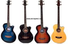 La empresa china de Aiersi produce una guitarra con cuatro-cuerda colorada eléctrica acústica de bajo volumen de voz