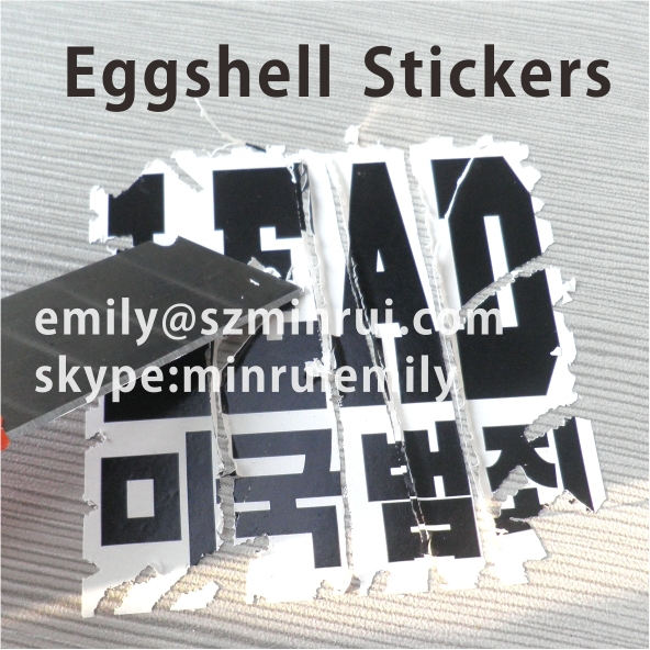 Eggshell Sticker Hard To Clean High Quality Egg Shell Name