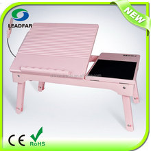 Deluxe convenient foldable adjustable laptop table
