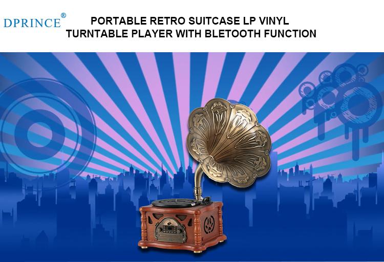 Meilleure qualité Rétro tourne-disque vinyle platine vinyle en gros