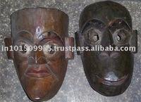 tribal wooden masks