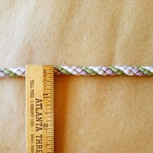1/4inch Lavender, Green and Taupe Grey rayon/cotton mix twist cord rope