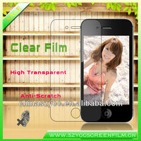 Waterproof High Quality PET Film Transparant Clear Screen Protector For Iphone4S/5(Accept PayPal)