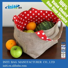 Promotional foldable organic cotton shopping bag