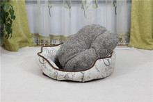 Durable & Breathable Pet bed for Dog linen fabric with vintage style