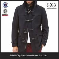 Custom Latest Design Cheap Winter Wool Pea Coat For Men