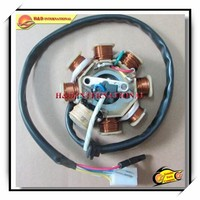 GY6-125-2 magneto stator,8 coil,DC ,high quality motorcycle magneto stator coil and motorcycle electrical parts