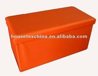 foldable storage ottoman for shoes/ folding ottoman bench
