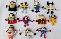 Minions doll with key ring string doll voodoo dolls