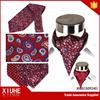 Wine jacquard ascot woven cravat necktie for men
