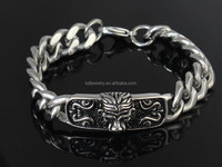 316L Stainless Steel Lion Head Bangle Bracelet Chain Jewelry Wholesale 2015