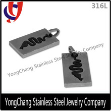 New arrival stainless steel line cut pendant for necklace carved with snake