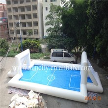 Customizable inflatable football field, soap soccer arena