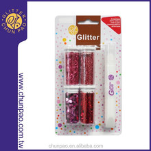 DIY Colorful Glitter Powder & Flitter Kit for Arts and Crafts