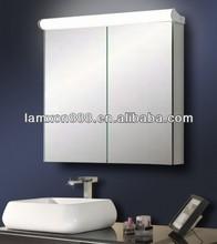 Espejo de tocador con gabinete para baño