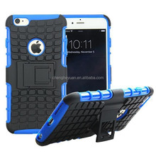 alibaba express tpu+pc heavy duty hybrid combo stand phone shockproof case cover for iphone 6 plus