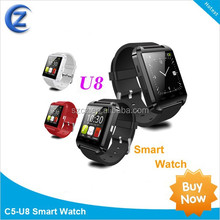 2015 shenzhen bluetooth smart bracelet,bluetooth V3.0 smart watch for apple watch,hot u8 smart watch