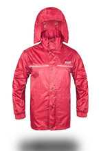 Polyester rain wear red,rain jackets for man