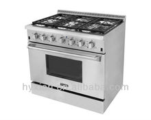 "36"" stainless steel super flame gas stoves with 6 burners for sale"