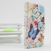new product shining beautifull leather flip cover for samsung galaxy i9205 mega 6.3 case