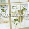 Matt transparent wall/window art sticker plastic sheet