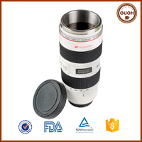 Wholesale Stainless Steel Camera Lens 70-200mm Souvenir Mug For Photographer Gift