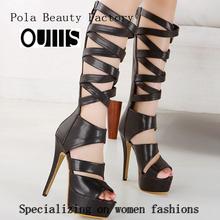 fábrica de zapatos de mujer hecha en china py3078