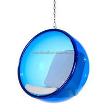 hot selling blue eero aarnio famous acrylic hanging bubble living room chairs