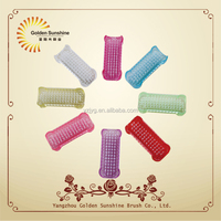Hot selling double side plastic disposable nail hand cleaning brush for nail