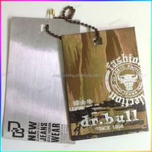 2015 Fashionable clothing hang tag garment tag