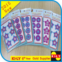 different shapes glass crystal sticker for car