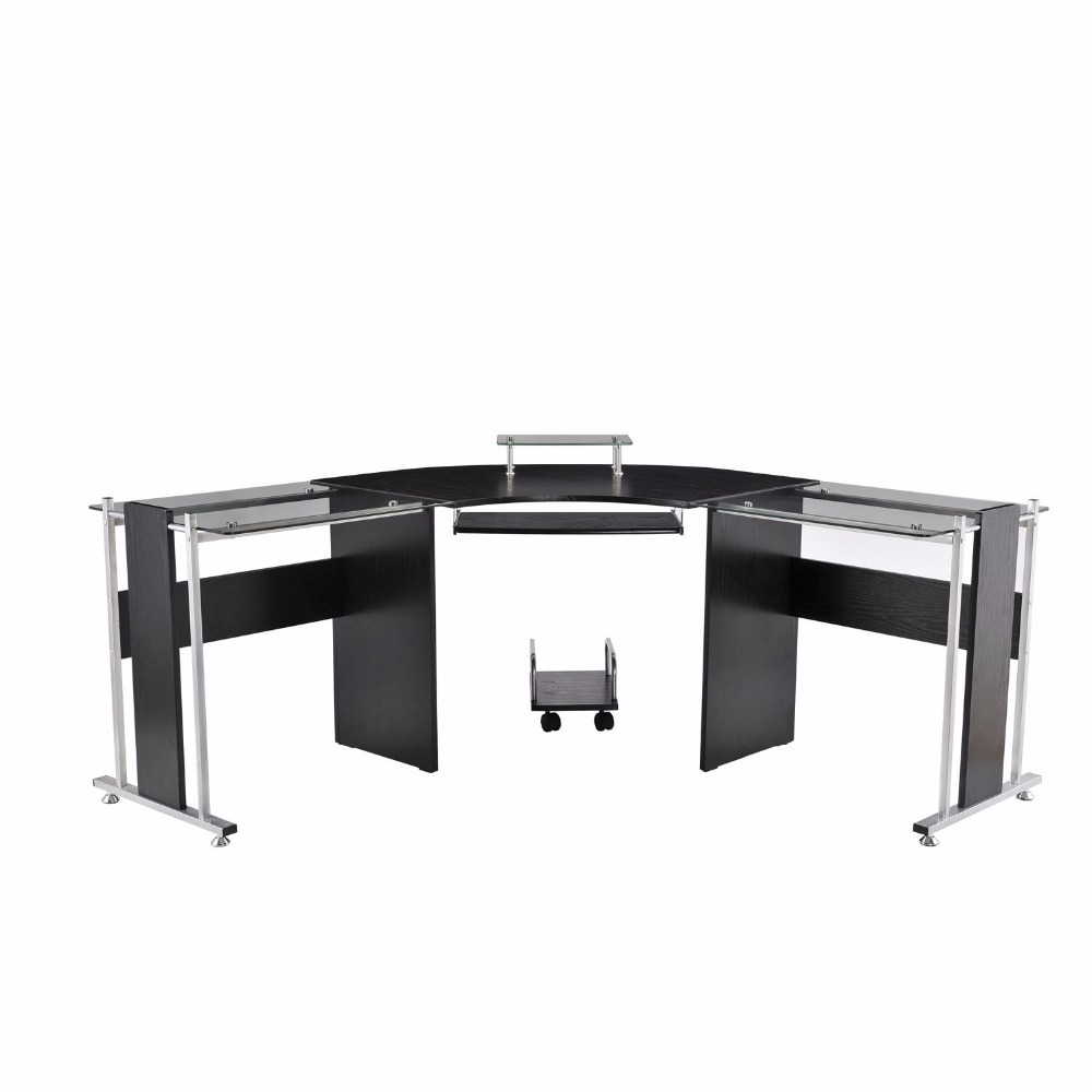 Office furniture 2 person glass office desk modern office table design buy office table office - L shaped desk for two people ...