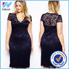 Yihao Sexy Lady Women Cut Cocktail Lace Bodycon Formal Dress Evening Party Plus Size Clothing