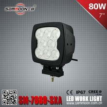 Square 80W CREE chips LED Work Light_SM-7800 for offroad vehicles, Agricultural, Mining, buses, Construction