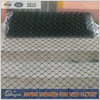 anping manufacturing High Quality black vinyl coated chain link fence