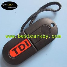 Factory price fake car key transponder silicone key cover for vw polo key