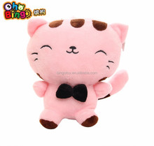 China Factory Direct Sale Plush Toy Pink Cat With Embroidery Eyes