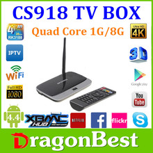 CS918 Android 4.4 Smart Tv Box Rk 3188 Quad Core Android Tv Box Xbmc Fully Loaded Mk888 Q7 Cs918