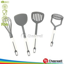 customized nylon egg whisk, spatula silicone kitchen utensil factory supply
