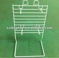 Metal Wire Counter Top Display Rack with Sign Holder and Hooks