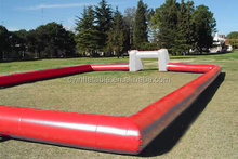 pvc popular large strong style color inflatable football strong field for kids sport game