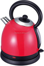Best price stainless steel cordless red electric kettle