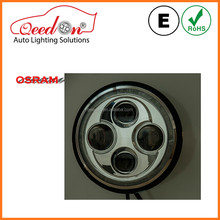 Qeedon 7 inch 12v 30w round with angel eyes led h4 motorcycle headlight for harley and davidson