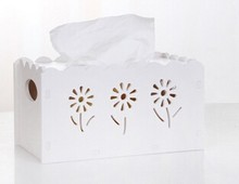 White wooden tissue box office supplies desktop set shipping container homes for sale