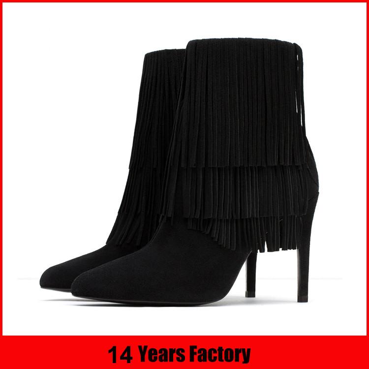 wholesale 2016 winter thin high heel women boots