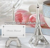 shiny slivery Paris Eiffel Tower place card holder