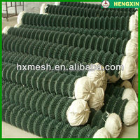 High Quality Vinyl Coated Chain Link Fence/plastic coating metal fence/2m width chain link fence mesh