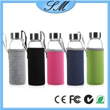Transparent water bottle with filtered straw glass water bottle sports water bottles